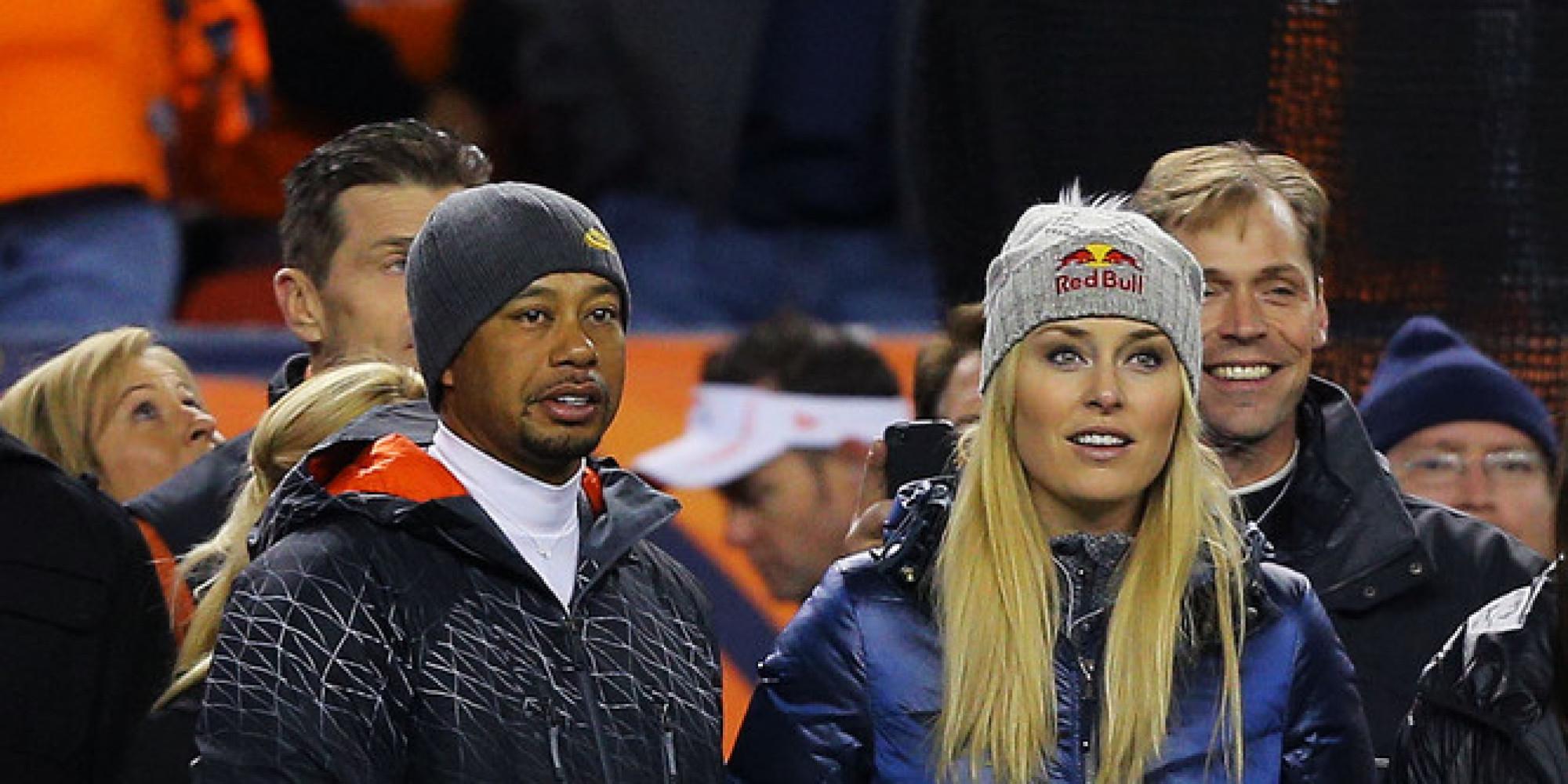 Tiger Woods Lindsey Vonn Spotted On Broncos Sideline In