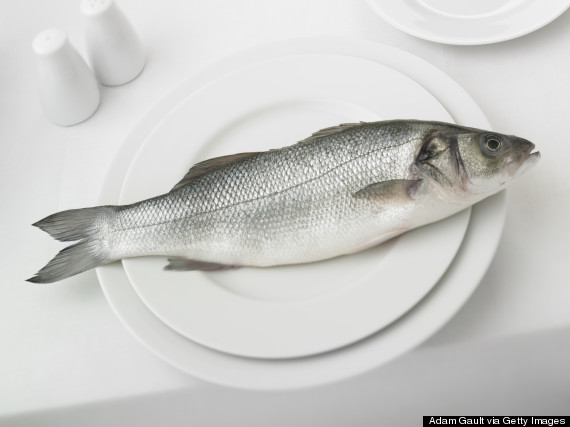 a fish on a plate
