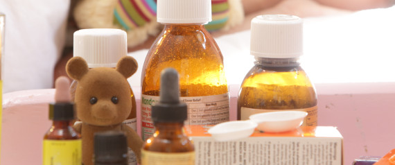 CHILD WITH ANTIBIOTICS