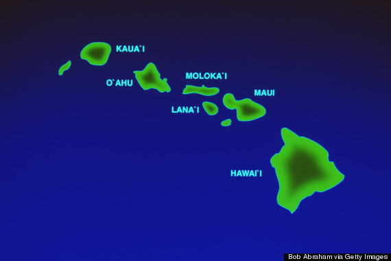 hawaii on map