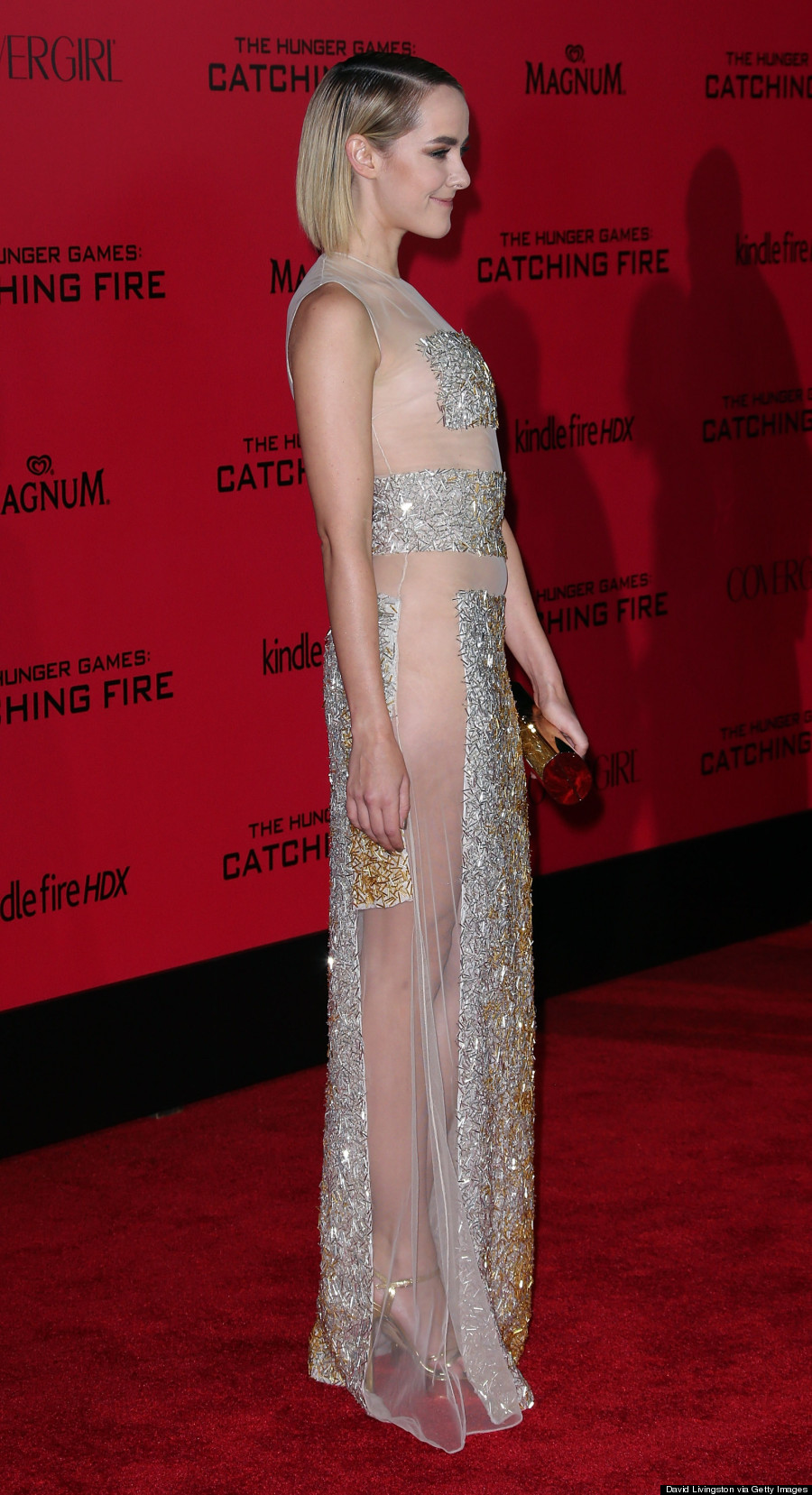 Jena Malone Goes Commando At Quot The Hunger Games Catching