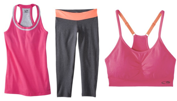 726ea58c66ef2 target. C9 Champion® Women's Performance Tank, $13; C9 Champion®  Performance Capri, $17; C9 Champion® Women's Strappy Cami Sports Bra, $15.