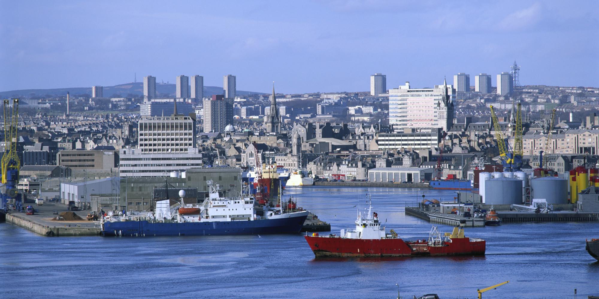 Aberdeen-Hafen-Fischerdorf-Footdee-Fitee-Schottland