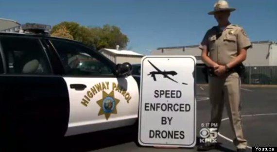 fake traffic drones