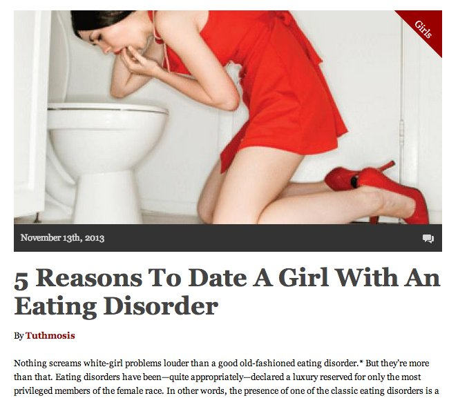 Dating A Woman With Eating Disorder