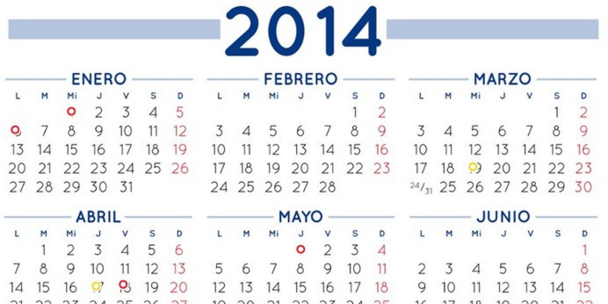 Calendario laboral 2014: Un solo macropuente y 9 festivos nacionales