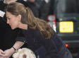 Duchess Of Cambridge Struggles To Keep Skirt From Flying Up (PHOTOS)