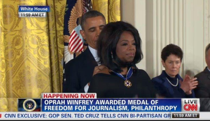 oprah medal