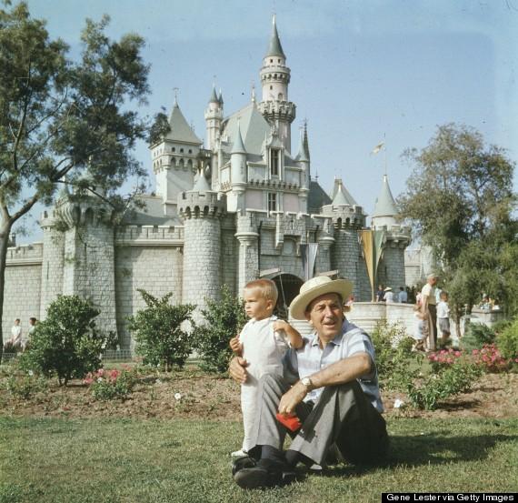 grandparent and grandchild at disneyland