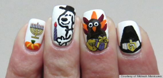 thanksgivukkah manicure