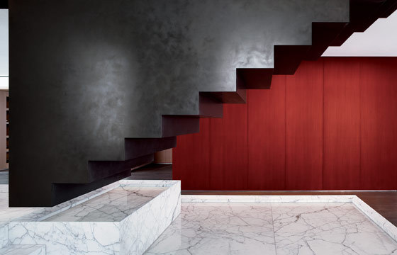legoretta stair sculpture