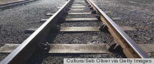 INFINITE TRAIN TRACK DESERT