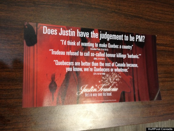 trudeau attack pamphlets
