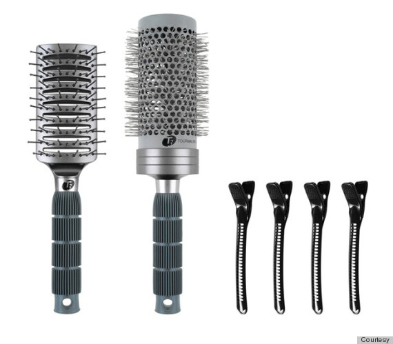 t3 hair brushes clips