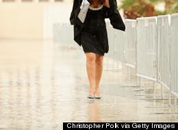MIRA: La lluvia arruinó la alfombra de los Latin Grammy