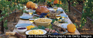 THANKSGIVING TABLE OUTSIDE