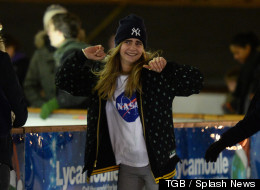 Cara Takes To The Ice