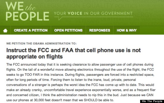 cellphones on planes
