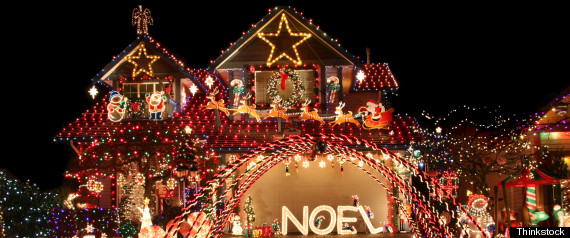 holiday lights house