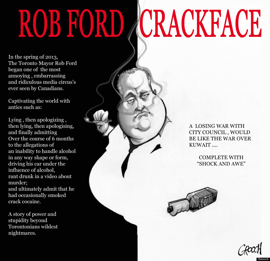 rob ford crackface