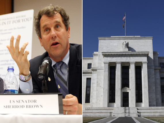 Sherrod Brown Federal Reserve
