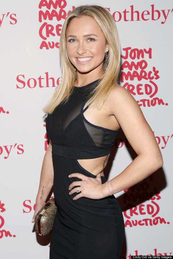Hayden Panettiere Wears Sexy Cutout Dress To Sotheby S