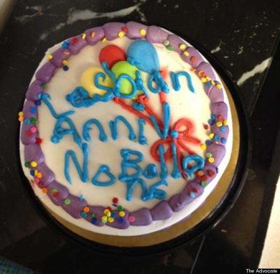 lesbian anniversary cake