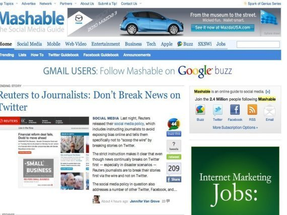 Mashable Down