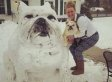 Bulldog-Shaped Snowman Makes Us So, So Happy  (PHOTO)