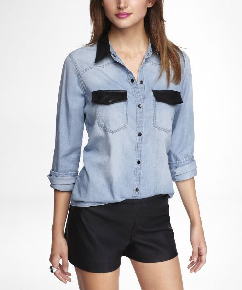 express denim shirt