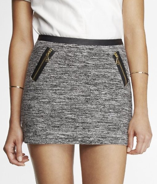 zippered skirt