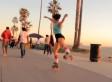 Michelle Steilen Treats Los Angeles Like Her Own Personal Roller Rink (VIDEO)