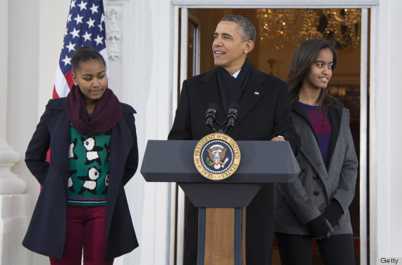sasha malia obama turkey pardoning