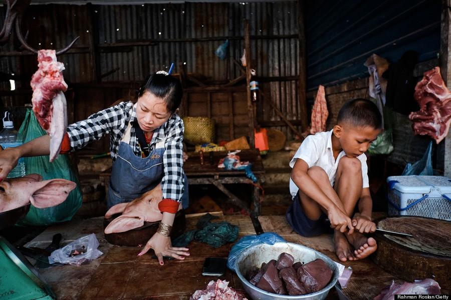 siem reap cambodia wet market
