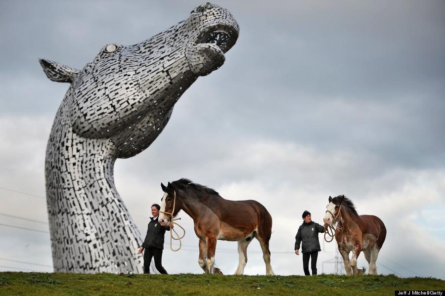 largest pair of equine sculptures