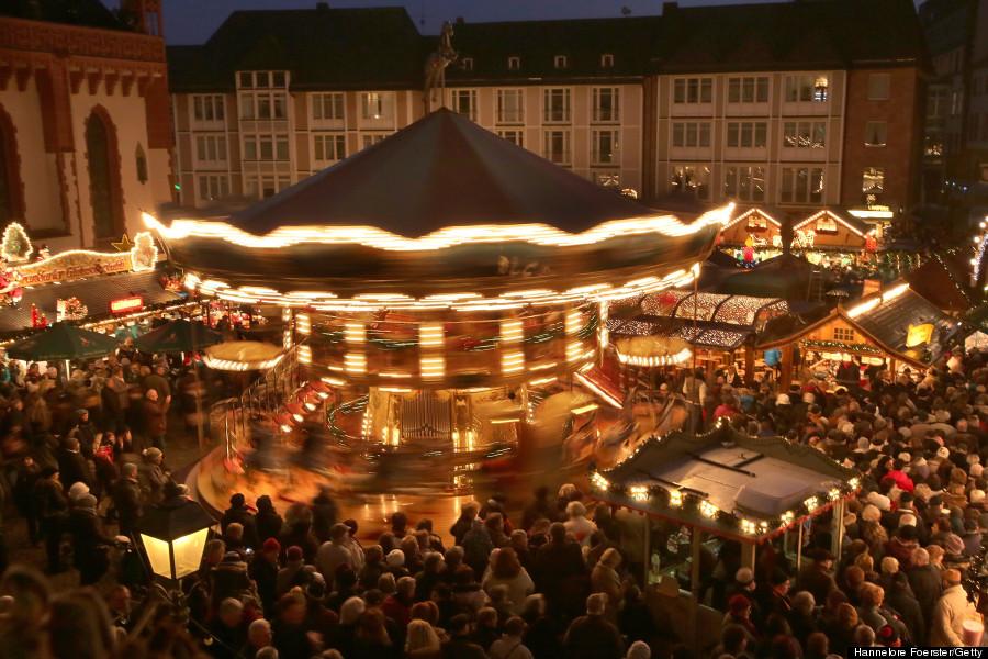 christmas market at roemerberg square