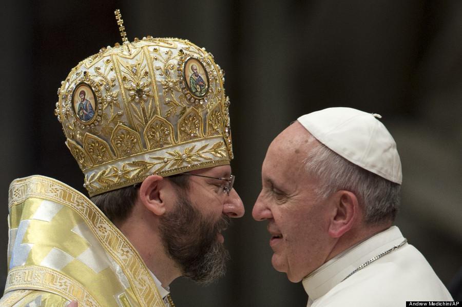 pope francis meets sviatoslav shevchuk