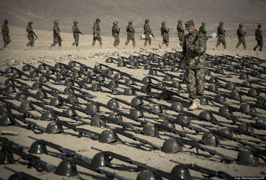 afghan army soldier kabul training facility