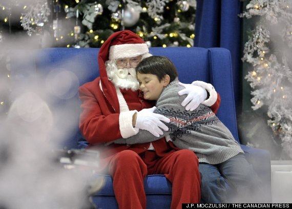 kids with autism meet santa