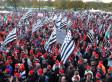 PHOTOS. Écotaxe: manifestation des Bonnets rouges à Carhaix, opérations escargot des transporteurs routiers en France
