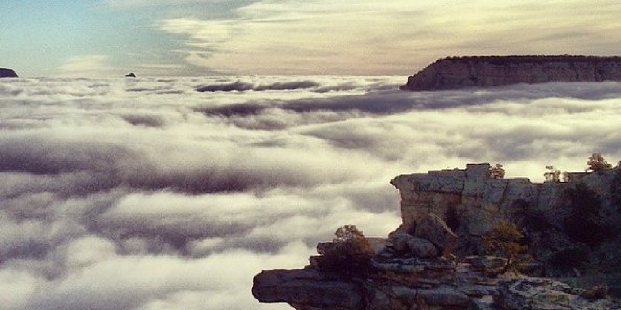 Rare Grand Canyon Fog Makes An Incredible Once In A