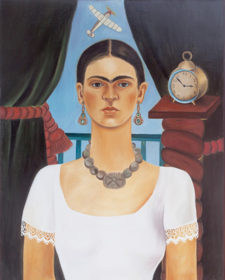 Kahlo Oil Painting