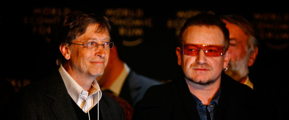 bill gates bono philanthropy