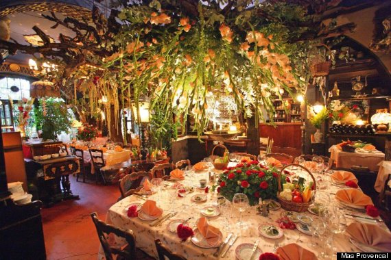 Mas provencal french restaurant in eze village is a for Alif tree french cuisine