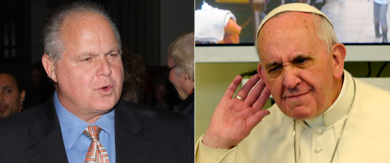 rush limbaugh pope francis