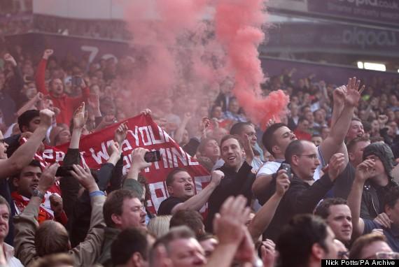 football fans flare
