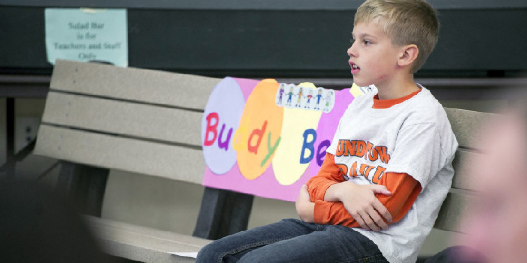 2nd Grader S Cure For Playground Loneliness A Buddy Bench