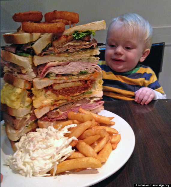 Man Polishes Off Sandwich 'The Size Of A Small Baby' In 36 Minutes ...