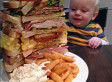 Man Polishes Off Sandwich 'The Size Of A Small Baby' In 36 Minutes Beating UK Strongman And Competitive Eaters