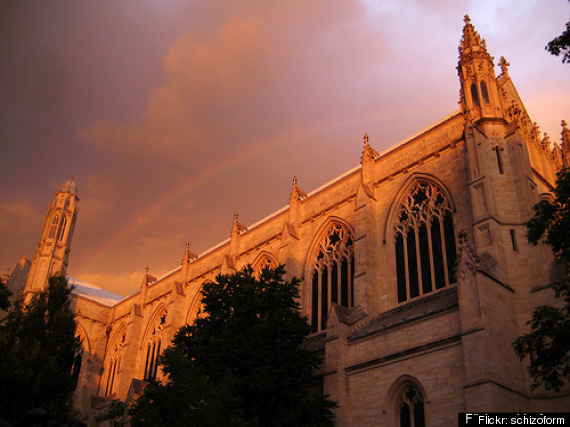 Rainbow Over Princeton Chapel W